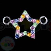 Rhinestone Rainbow Loom Charm - Rainbow Star