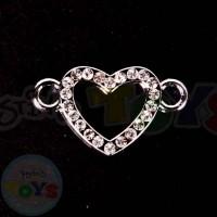 Rhinestone Charm - Heart