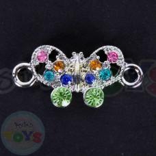 Rhinestone Rainbow Loom Charm - Butterfly