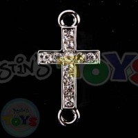Rhinestone Rainbow Loom Charm - Cross