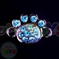 Rhinestone Rainbow Loom Charm - Blue Puppy Paws