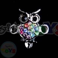 Rhinestone Charm - Owl