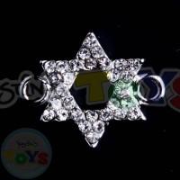 Rhinestone Charm - Jewish Star