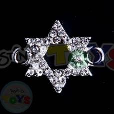 Rhinestone Rainbow Loom Charm - Jewish Star