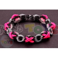 Rainbow Loom XOXO Bracelet Template