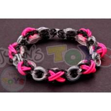 Rainbow Loom XOXO Bracelet Template