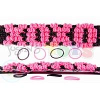 Rainbow Loom Puffy Name Bracelet Template