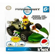 Nintendo Wii Mario kart K'nex Bowser And Standard Kart Building Set Motor New