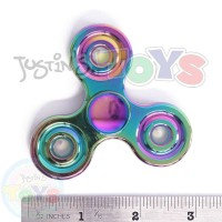 Rainbow Metal Alloy Tri Hand Finger Spinner