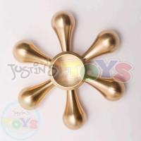 Metallic Fidget Spinner - Gold Snowflake