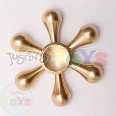 Metallic Fidget Spinner - Gold Snowflake