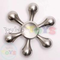 Metallic Fidget Spinner - Silver Snowflake