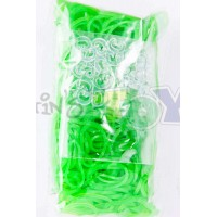 LIME GREEN JELLY Refill - 600 Official Bands and Clips