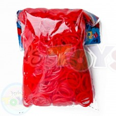 Rainbow Loom Refill Bands in Red Jelly