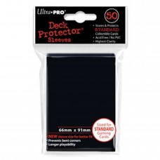 Ultra Pro Black Deck Protectors 50 Count Pack