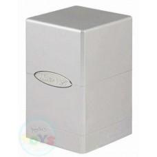 ULTRA PRO SATIN TOWER DECK BOX METALLIC SILVER