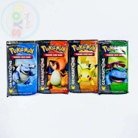 4x Pokemon TCG Generations Booster Packs, 1 of Each Pack Art Charizard Pikachu