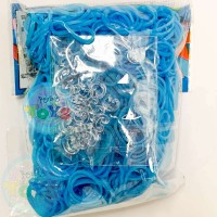 Rainbow Loom Refill Bands in Neon Blue