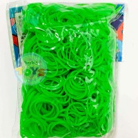 LIME GREEN Refill - 600 Official Bands and Clips