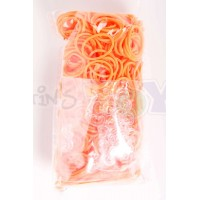 Rainbow Loom Refill Bands in Neon Orange