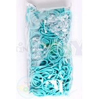 TURQUOISE Refill - 600 Official Bands and Clips