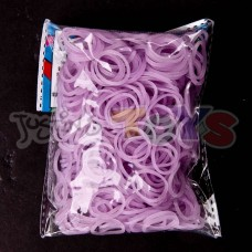 Rainbow Loom Refill Bands in Electric Purple Jelly Glow