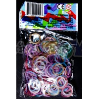 ROUNDED GLITTER Enchanted OFFICIAL RAINBOW LOOM MIX
