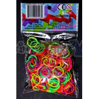 ROUNDED NEON OFFICIAL RAINBOW LOOM MIX