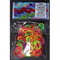 Rainbow Loom Refill Bands in Neon Mix