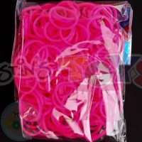 Rainbow Loom Refill Bands in Super Neon Pink